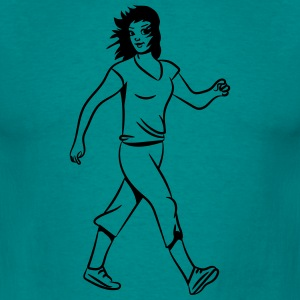 walking sport woman T-Shirts - Men's T-Shirt