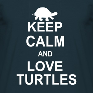 Keep Calm And Love Turtles T-Shirts - Men's T-Shirt