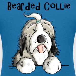 Mignon Bearded Collie Tee shirts - T-shirt col V Femme