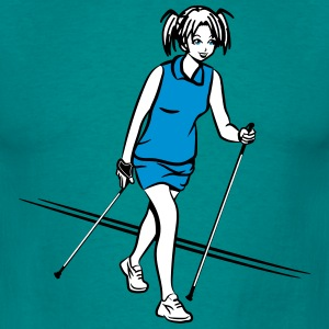 nordic walking fille Tee shirts - T-shirt Homme