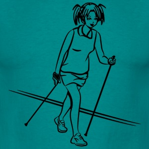 nordic walking girl T-Shirts - Men's T-Shirt