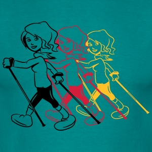 nordic walking women enjoy sport T-Shirts - Men's T-Shirt