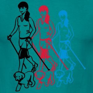 nordic femmes marche chien Tee shirts - T-shirt Homme