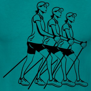 nordic walking women T-Shirts - Men's T-Shirt