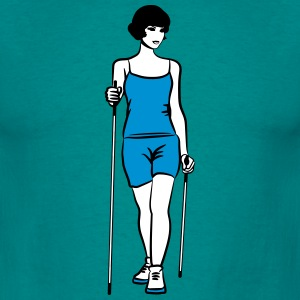 nordic walking sport woman T-Shirts - Men's T-Shirt