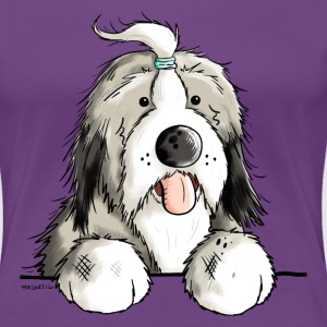 Happy Bearded Collie T-Shirts - Women's Premium T-Shirt