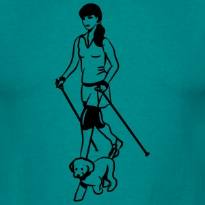 nordic walking chienne Tee shirts - T-shirt Homme