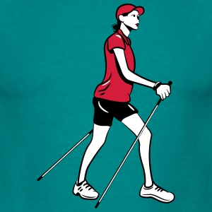 nordic walking woman T-Shirts - Men's T-Shirt