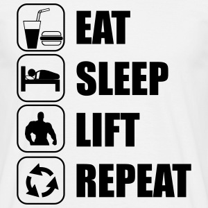 Eat Sleep Lift Repeat T-shirts - Mannen T-shirt