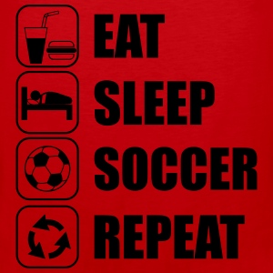 Eat Sleep Soccer Repeat Sportsklær - Premium singlet for menn
