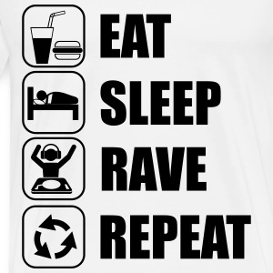 Eat Sleep Rave Repeat Camisetas - Camiseta premium hombre
