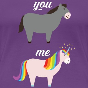 You VS Me (Donkey - Unicorn) T-skjorter - Premium T-skjorte for kvinner