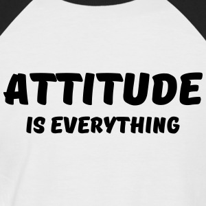 Attitude is everything T-Shirts - Männer Baseball-T-Shirt
