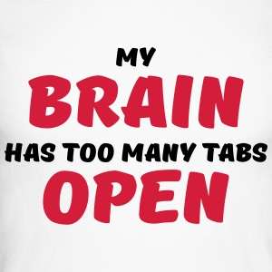 My brain has too many tabs open Manches longues - T-shirt baseball manches longues Homme