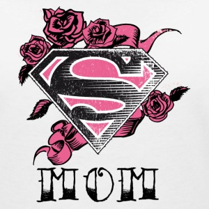 Superman S-Shield Mom Frauen T-Shirt - Frauen T-Shirt mit V-Ausschnitt