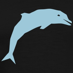cartoon delphin T-Shirts - Männer Premium T-Shirt