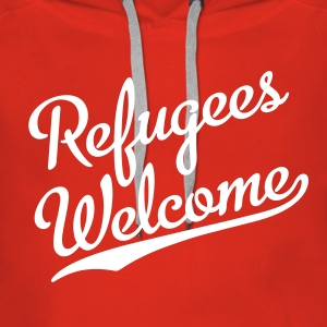 Refugees Welcome Pullover & Hoodies - Frauen Premium Hoodie