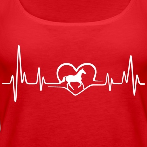 Heartbeat Pferd Tops - Frauen Premium Tank Top