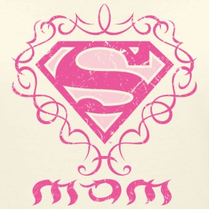 Superman 'S-Shield Mom' Frauen T-Shirt - Frauen T-Shirt mit V-Ausschnitt