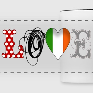 Love Ireland Black - Taza panorámica