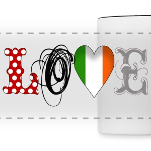 Love Ireland Black - Panoramic Mug