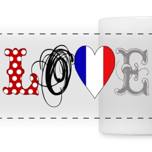Love France Black - Panoramic Mug