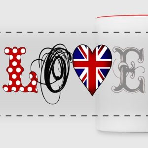 Love UK Black - Taza panorámica