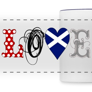 Love Scotland Black - Panoramic Mug