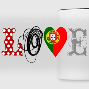 Love Portugal Black  - Taza panorámica