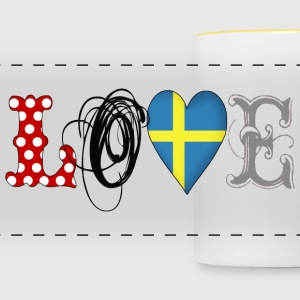 Love Sweden Black - Taza panorámica