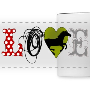 Love Horses - Panoramic Mug