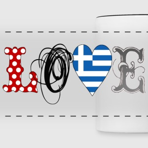 Love Greece Black - Taza panorámica