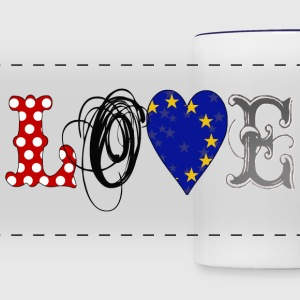 Love Europe Black - Taza panorámica