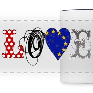 Love Europe Black - Panoramic Mug