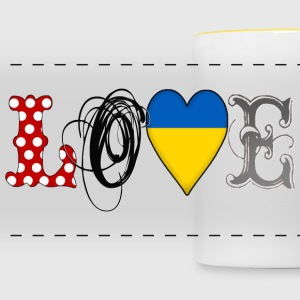 Love Ukraine Black - Taza panorámica
