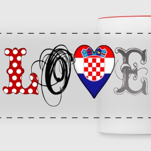 Love Croatia Black - Panoramatasse