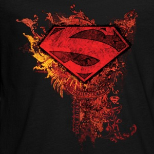 Superman S-Shield Ornate Teenager Langarmshirt - Teenager Premium Langarmshirt