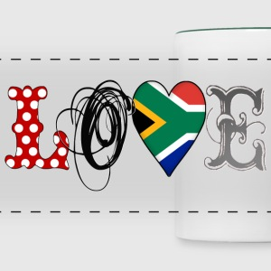 Love South Africa Black - Panoramic Mug