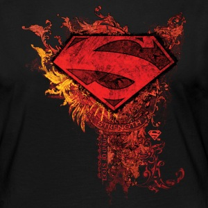 Superman S-Shield Ornate Frauen Langarmshirt - Frauen Premium Langarmshirt