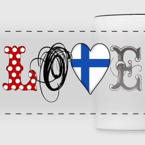 Love Finland Black - Panoramic Mug