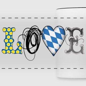 Love Bavaria Black - Panoramic Mug