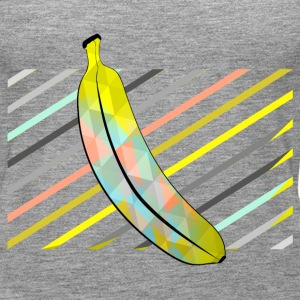 Heather grey Stylish Pixel Bananas Tops - Women's Premium Tank Top