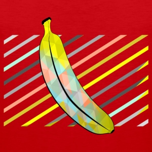 Red Stylish Pixel Bananas Sports wear - Men's Premium Tank Top