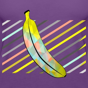 Purple Stylish Pixel Bananas Tops - Women's Premium Tank Top