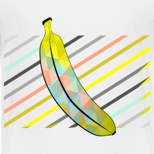 White Stylish Pixel Bananas Shirts - Kids' Premium T-Shirt