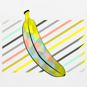 White Stylish Pixel Bananas Sports wear - Men's Premium Tank Top