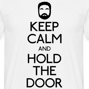 Keep Calm hold the door T-skjorter - T-skjorte for menn