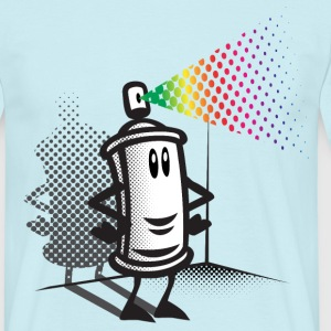 Happy paint spray - Männer T-Shirt