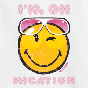 Smiley World I'm on vacation Kinder T-Shirt - Kinder T-Shirt