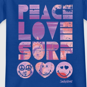 Smiley World Peace Love Surf Teenager T-Shirt - Teenager T-Shirt